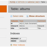 Adminer - gestor de bases de datos